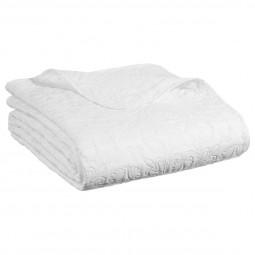 Dessus de lit arabesque ivoire 240x260 + 2 housses d'oreiller 60x60