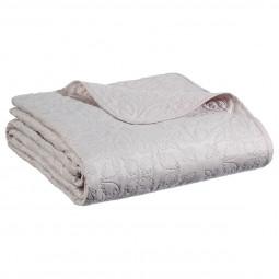 Dessus de lit arabesque lin 240x260 + 2 housses d'oreiller 60x60