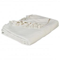 Jeté de lit ivoire 160x220