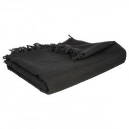 Jeté de lit noir 160x220 cm