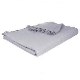 Jeté de lit gris clair 230x250 cm