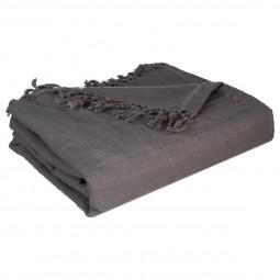 Jeté de lit gris 230x250 cm