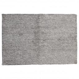 Tapis à poils courts gris chiné 60x90 cm