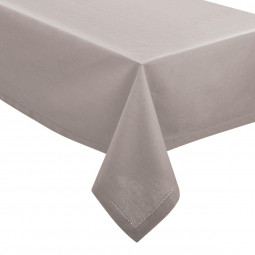 Nappe chambray gris clair 140x240 cm