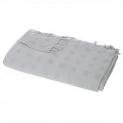 Jeté de lit carré gris clair 230x250 cm