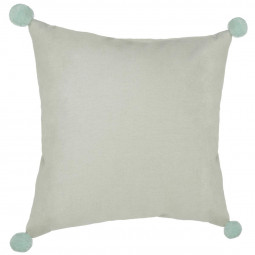 Coussin atomic pompon 45x45
