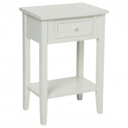 Table de chevet blanc