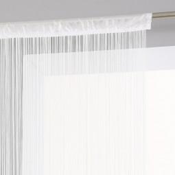 Rideau de fil blanc 90 x 200 cm