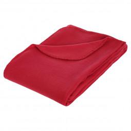 Plaid polaire rouge 125x150 cm