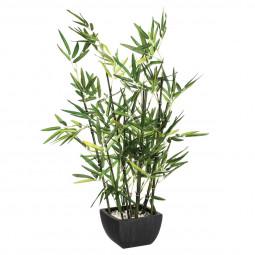 Bambou artificiel en pot H70