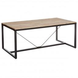 Table de dîner en bois d'Acacia 180 x 90 75 cm EDENA