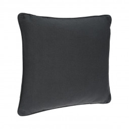 Coussin passepoil gris foncé 45 x 45 cm
