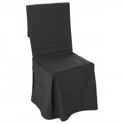 Housse de chaise gris foncé