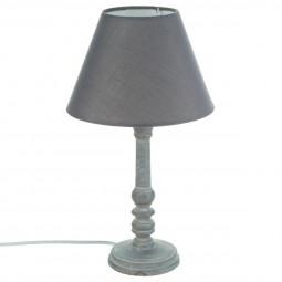 Lampe en bois gris H36