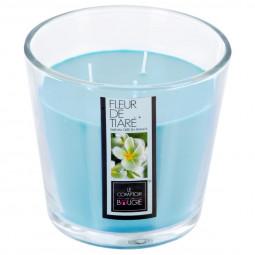 Bougie parfumée en verre fleur de tiaré D13.5