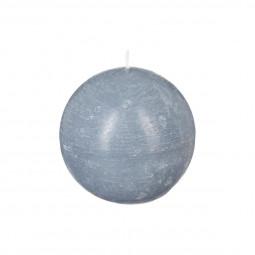 Bougie boule rustique grise D8