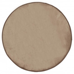 Tapis velours rond taupe D90 cm