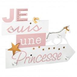 Patère pancarte «Demoiselle»5 Crochets 50 x 35 cm