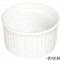 Ramequin en céramique blanc D10