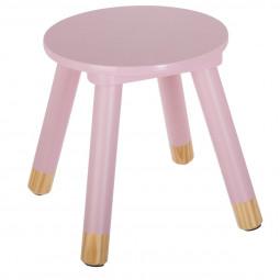 Tabouret rose pour chambre d'enfant