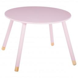Table ronde rose pour enfant