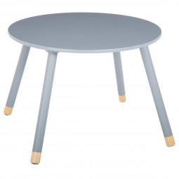 Table ronde grise pour chambre d'enfant