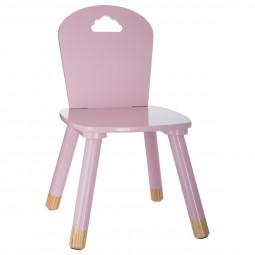 Chaise rose pour chambre d'enfant