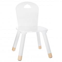Chaise enfant blanche H.28 cm