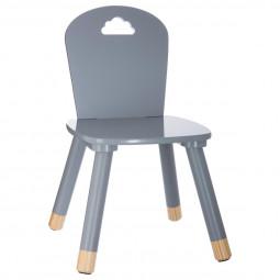 Chaise grise pour chambre d'enfant