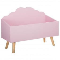 Coffre nuage rose
