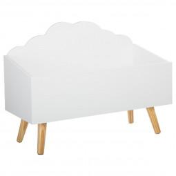 Coffre nuage blanc