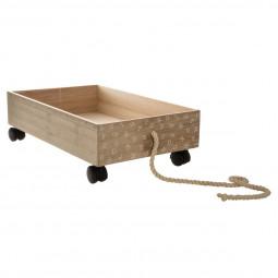 Chariot de rangement en bois pour jouets