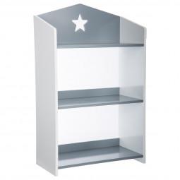 Bibliothèque étoile gris