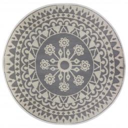 Tapis décoratif rond pour extérieur ou intérieur D 150 cm