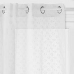 Voilage blanc motif en relief 140 x 240 cm blush living