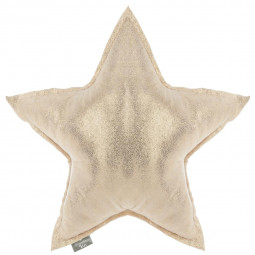 Coussin étoile or 46x46 cm