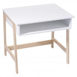 Bureau blanc en bois 58x52