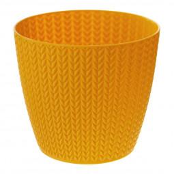 Pot motif épis de blé D 15.7 x H 13.8 cm