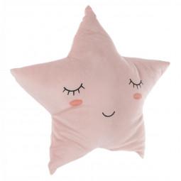 Coussin étoile mémoire de forme rose