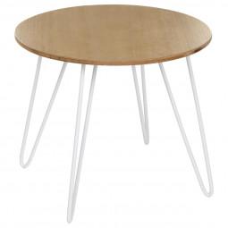 Table à café ronde blanche  Metsa