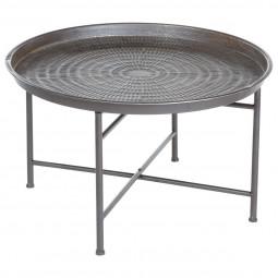 Table à café métal gris - Instinct Naturel