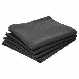 Lot de 4 serviettes de table grises en coton