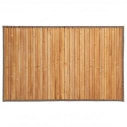 Tapis bambou latté naturel 50x80 cm