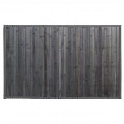 Tapis bambou latté gris foncé 50x80 cm