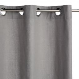 Lot de 2 rideaux gris Panama 135 x 240 cm