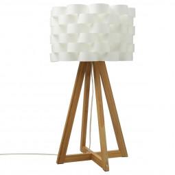 """Lampe """"Moki"""" en bambou & papier H55"""