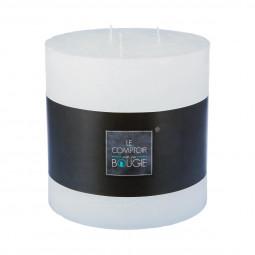 Bougie ronde rustique blanc D14