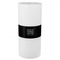 Bougie cylindrique rustique blanc H32