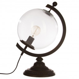 Lampe globe en métal H44