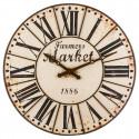 """Grande Pendule Vintage marron en métal  H 118 cm """"Retro Factory"""""""